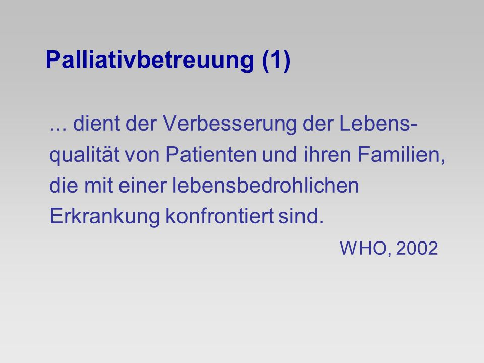 Palliativbetreuung (1)
