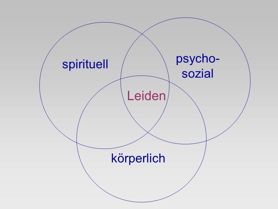 psycho- sozial spirituell Leiden körperlich