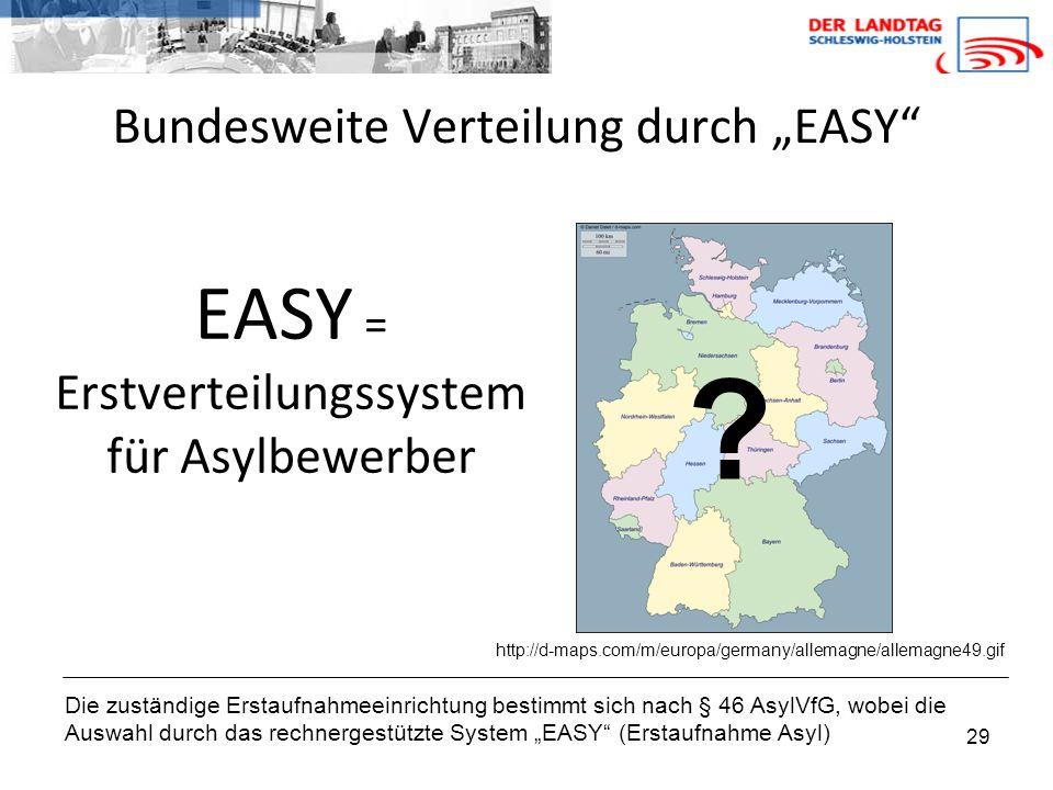 """Bundesweite Verteilung durch """"EASY"""