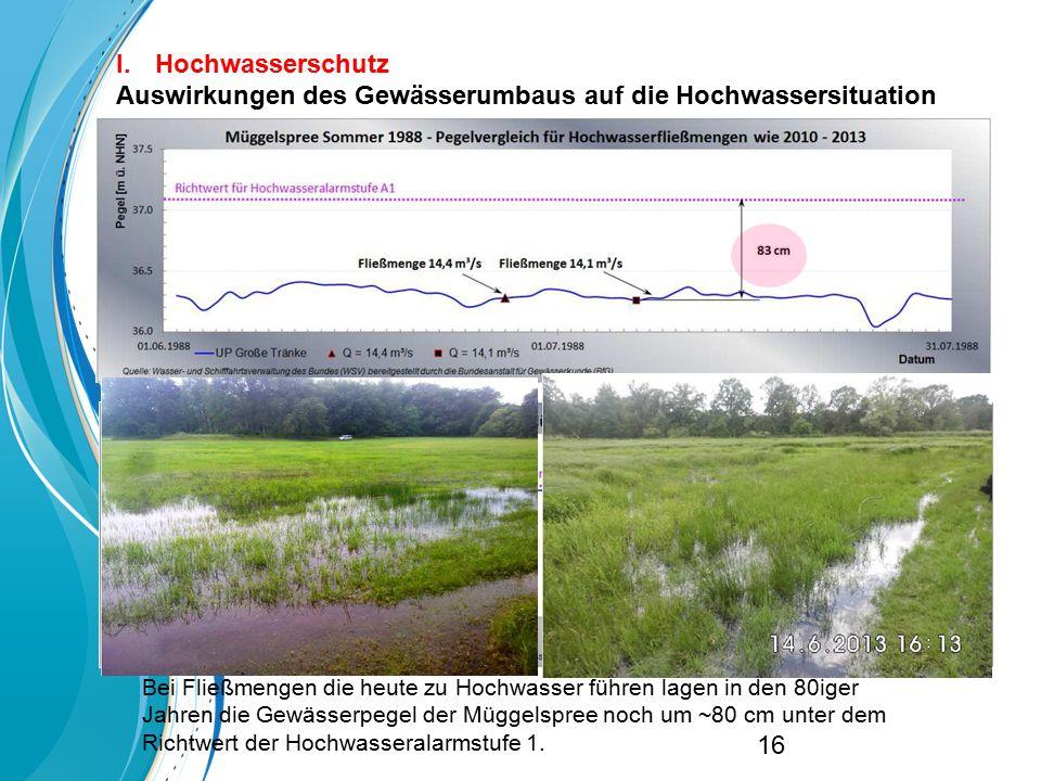 Auswirkungen des Gewässerumbaus auf die Hochwassersituation