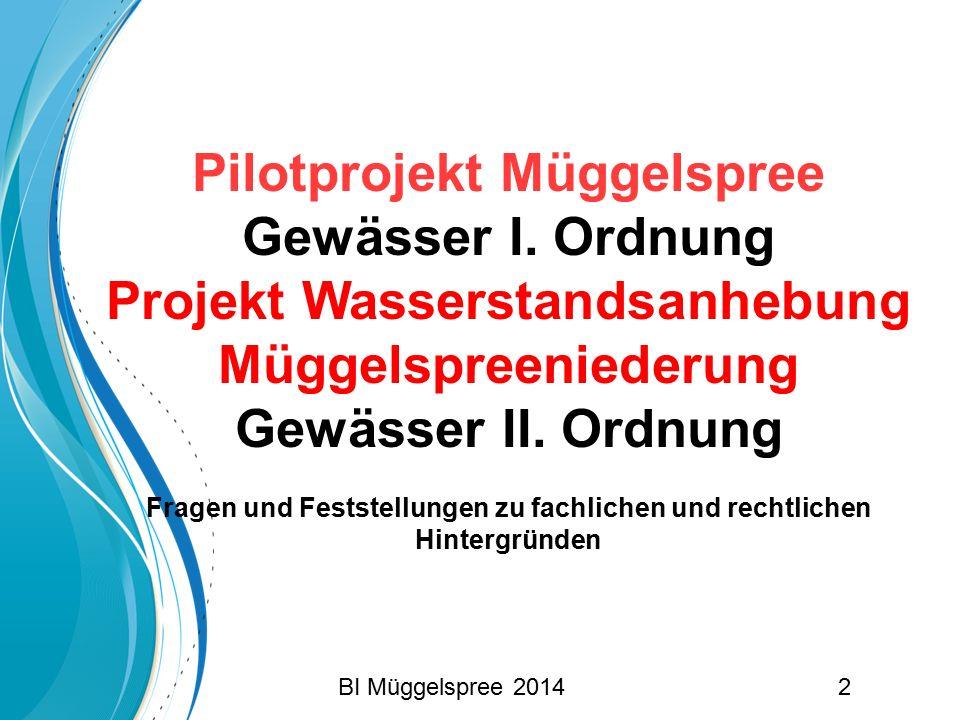 Pilotprojekt Müggelspree Gewässer I. Ordnung