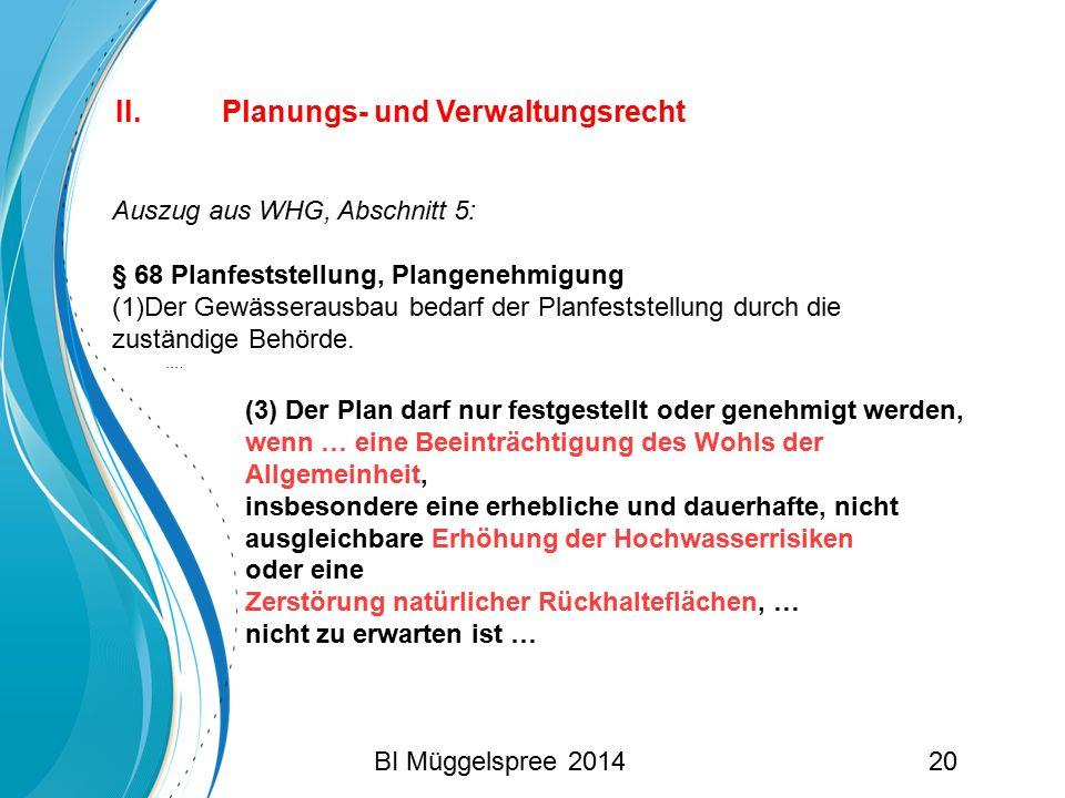 II. Planungs- und Verwaltungsrecht