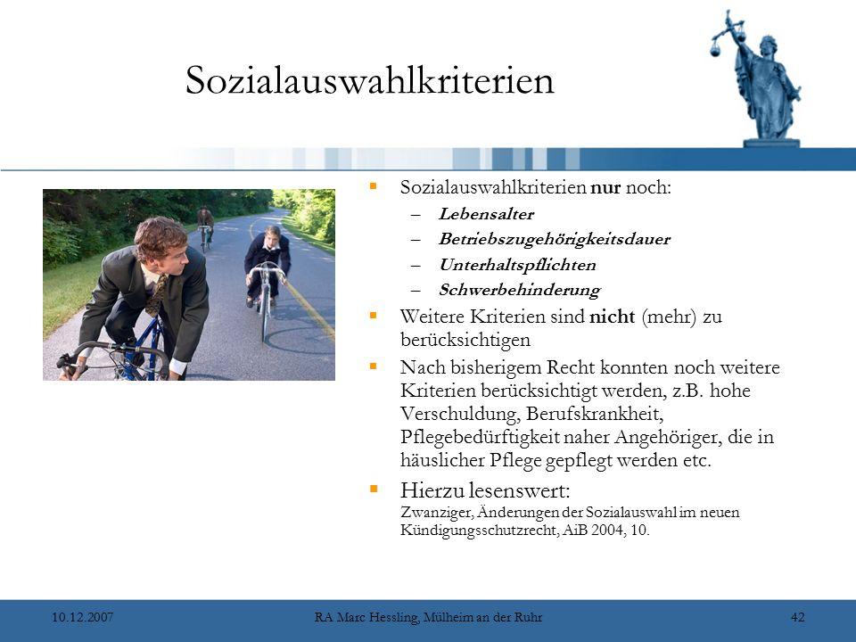 Sozialauswahlkriterien