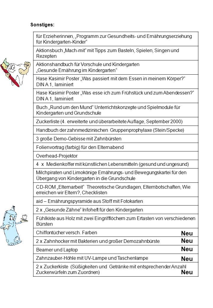"""Sonstiges: für Erzieherinnen, """"Programm zur Gesundheits- und Ernährungserziehung für Kindergarten-Kinder"""