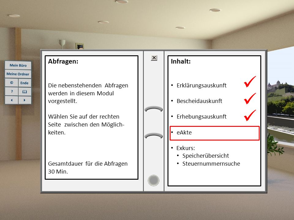 Abfragen: Die nebenstehenden Abfragen werden in diesem Modul vorgestellt. Wählen Sie auf der rechten.