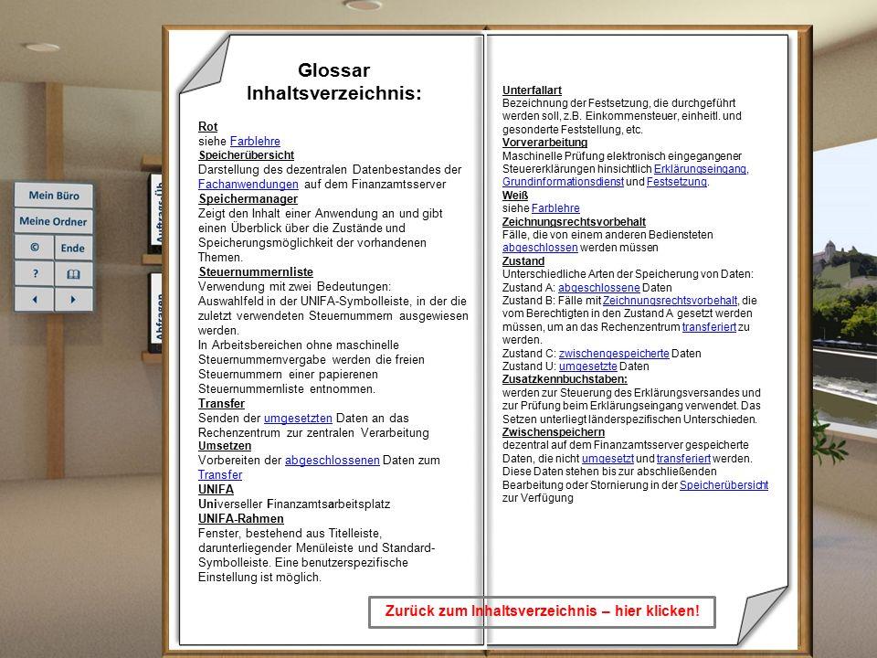 Zurück zum Lernprogramm Glossar Inhaltsverzeichnis: Glossar