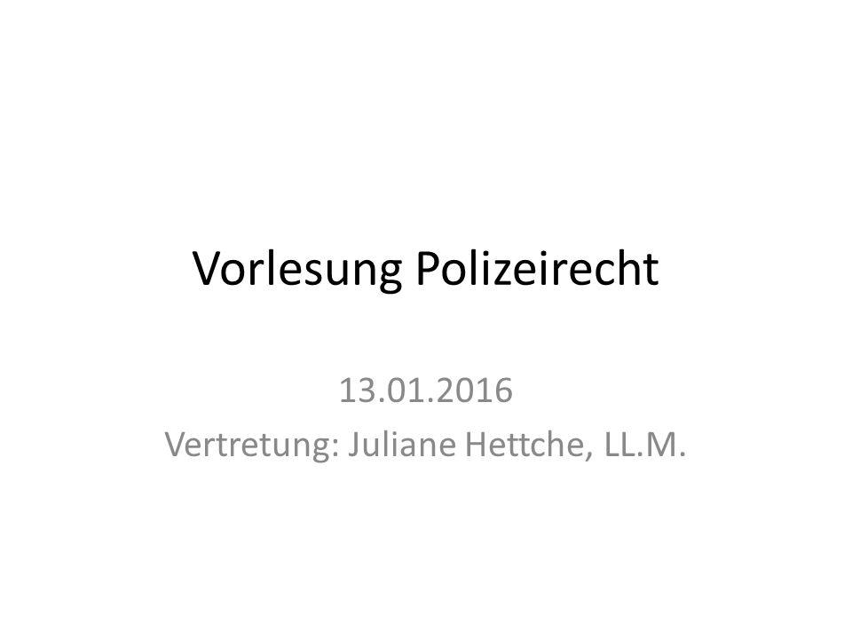 Vorlesung Polizeirecht