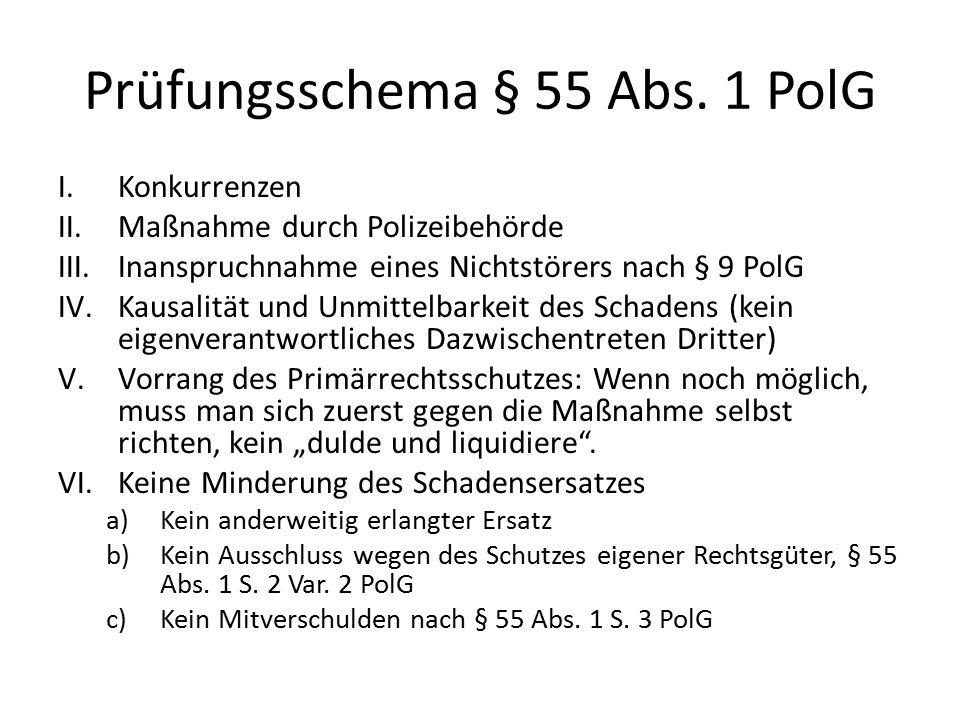 Prüfungsschema § 55 Abs. 1 PolG