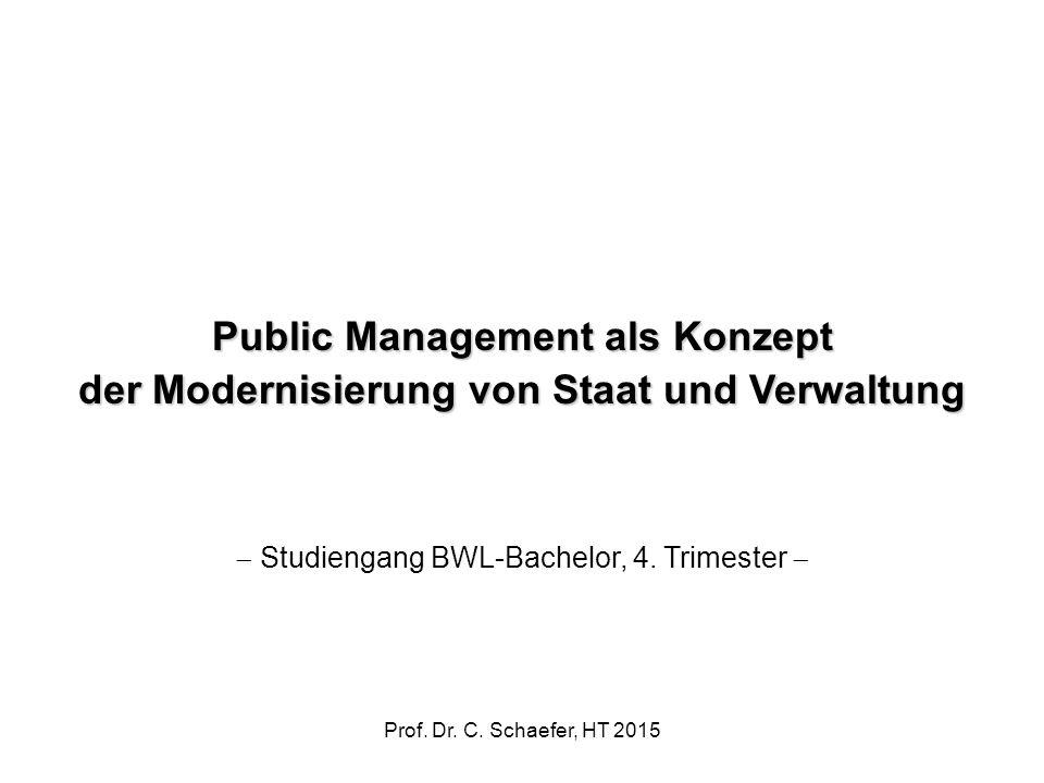 Public Management als Konzept