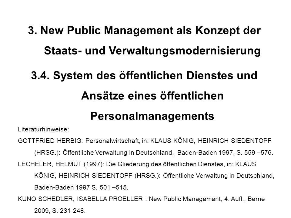 3. New Public Management als Konzept der Staats- und Verwaltungsmodernisierung