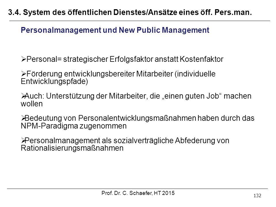 3.4. System des öffentlichen Dienstes/Ansätze eines öff. Pers.man.