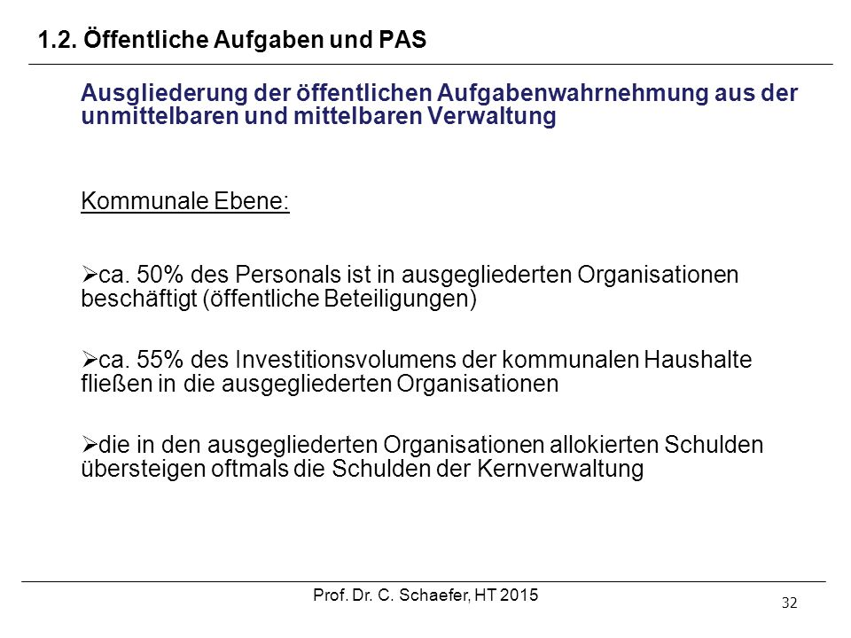 1.2. Öffentliche Aufgaben und PAS