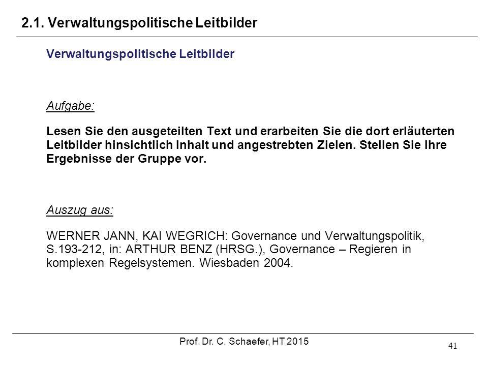 2.1. Verwaltungspolitische Leitbilder