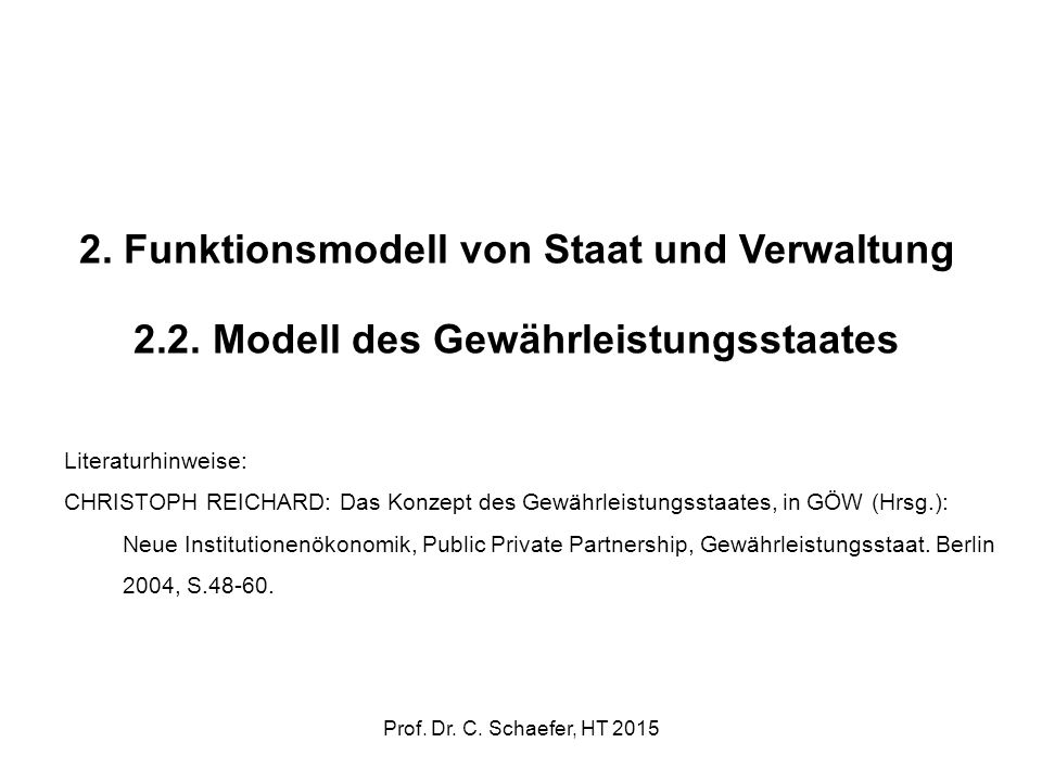 2. Funktionsmodell von Staat und Verwaltung