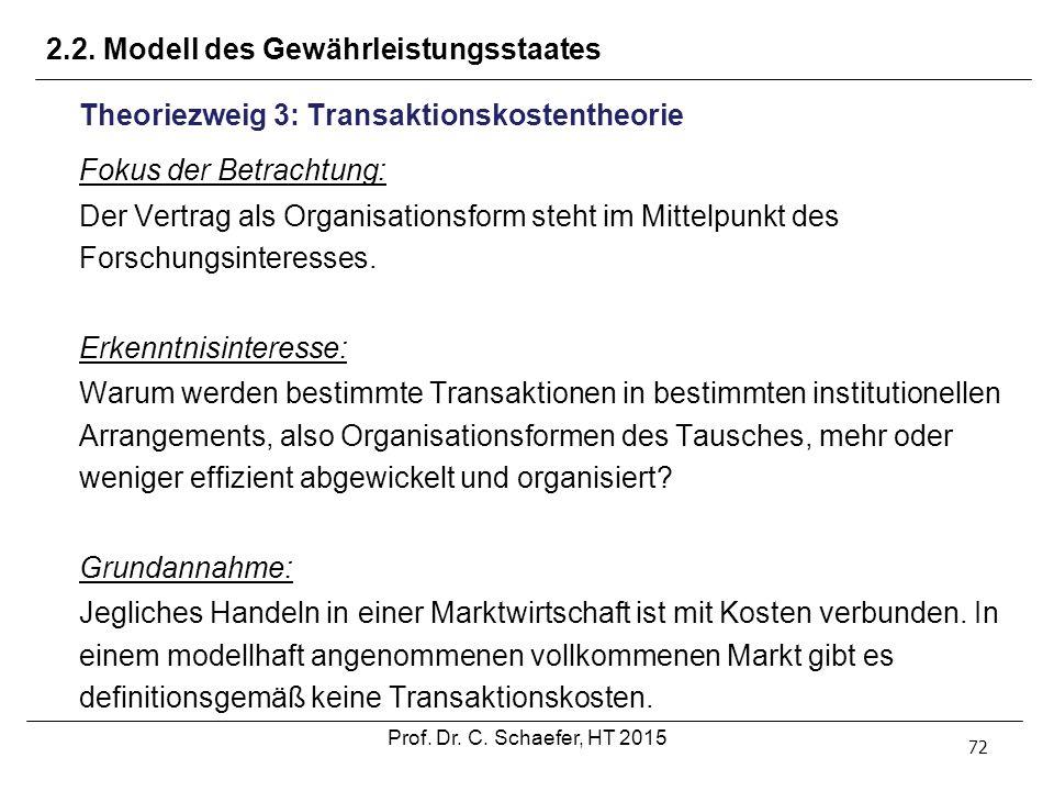 2.2. Modell des Gewährleistungsstaates
