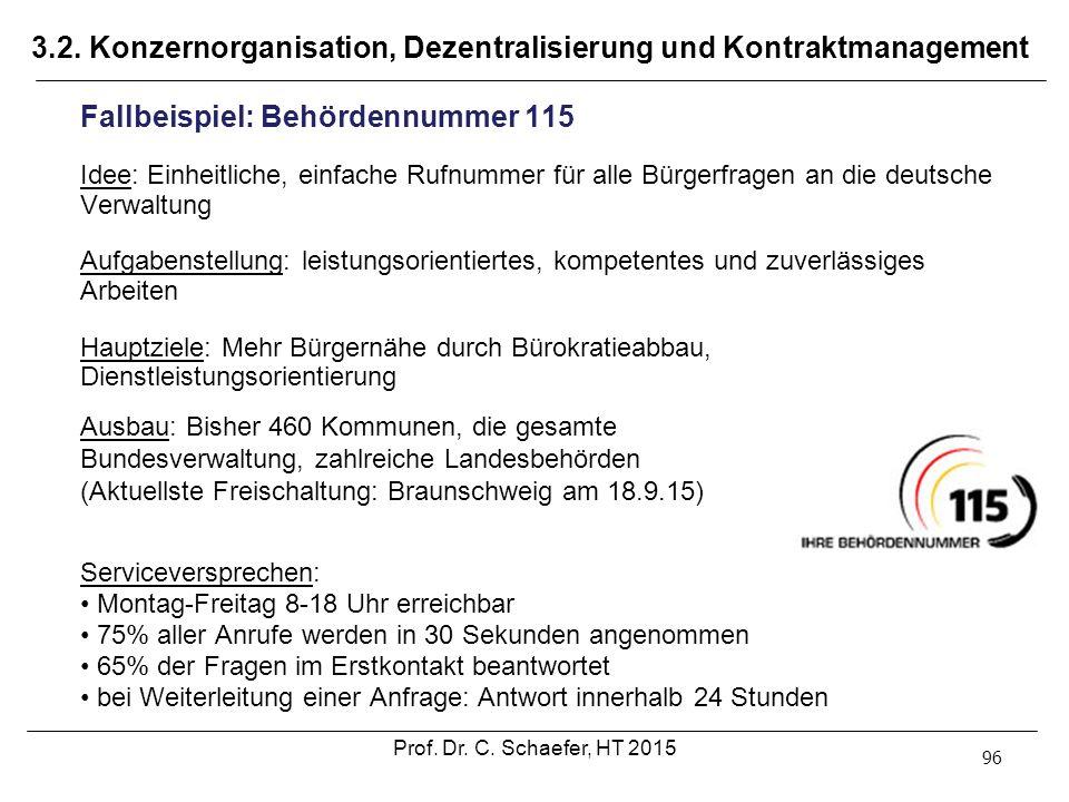 3.2. Konzernorganisation, Dezentralisierung und Kontraktmanagement