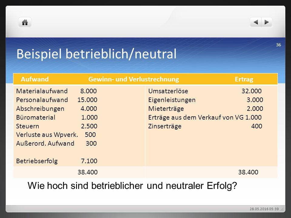 Beispiel betrieblich/neutral