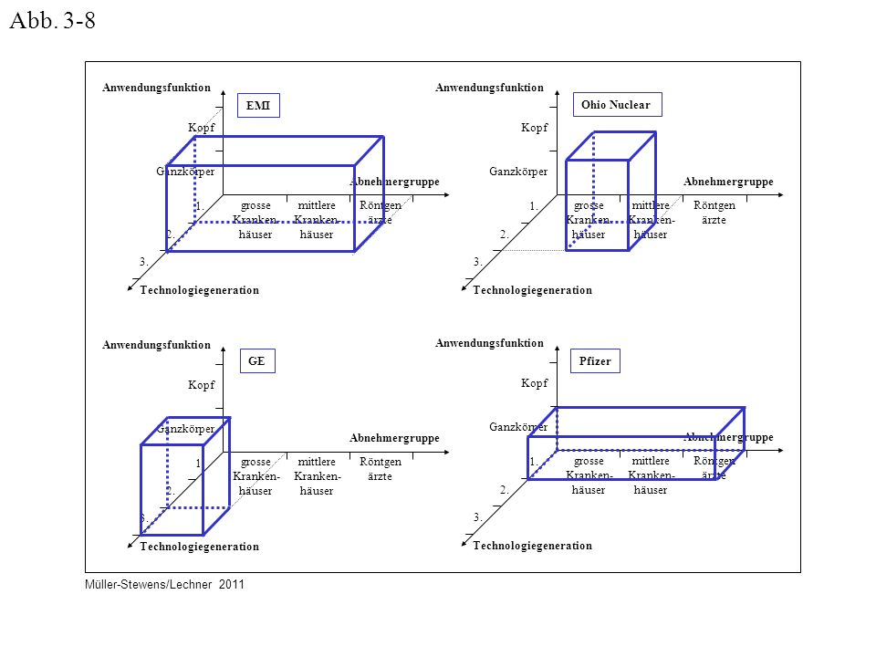 Abb. 3-8 Anwendungsfunktion Technologiegeneration Abnehmergruppe Kopf