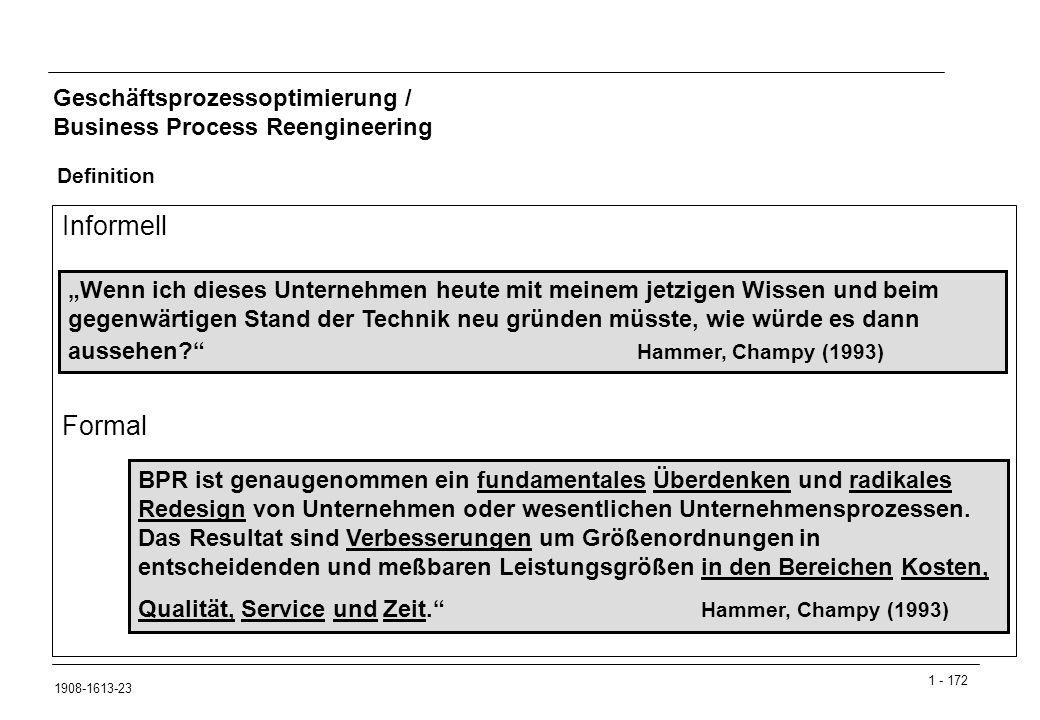 Geschäftsprozessoptimierung / Business Process Reengineering