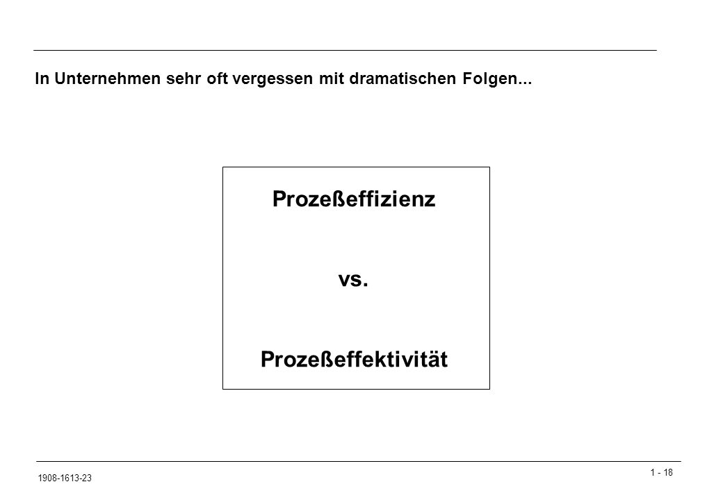 Prozeßeffizienz vs. Prozeßeffektivität