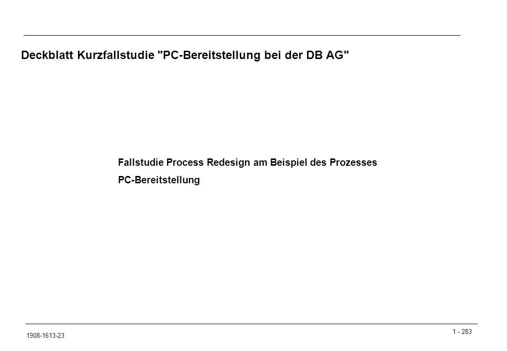 Deckblatt Kurzfallstudie PC-Bereitstellung bei der DB AG