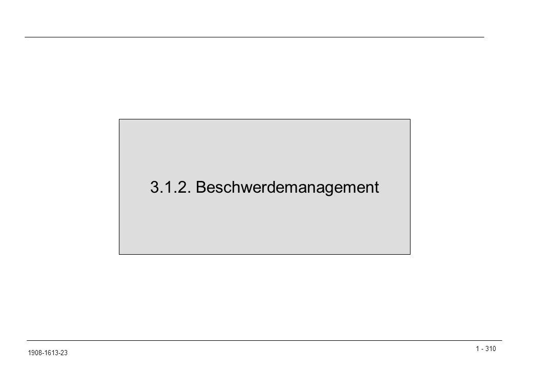 3.1.2. Beschwerdemanagement
