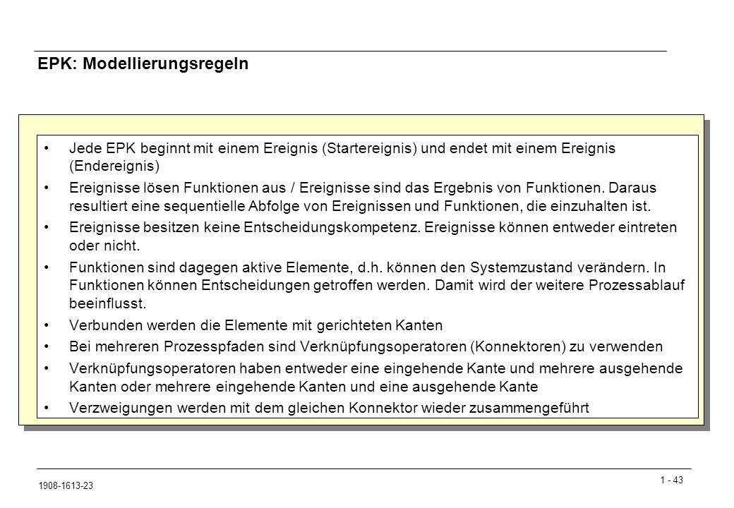 EPK: Modellierungsregeln