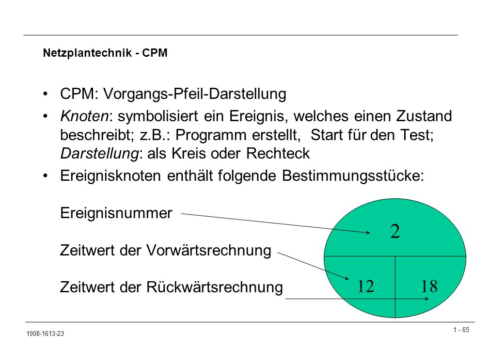 2 12 18 CPM: Vorgangs-Pfeil-Darstellung