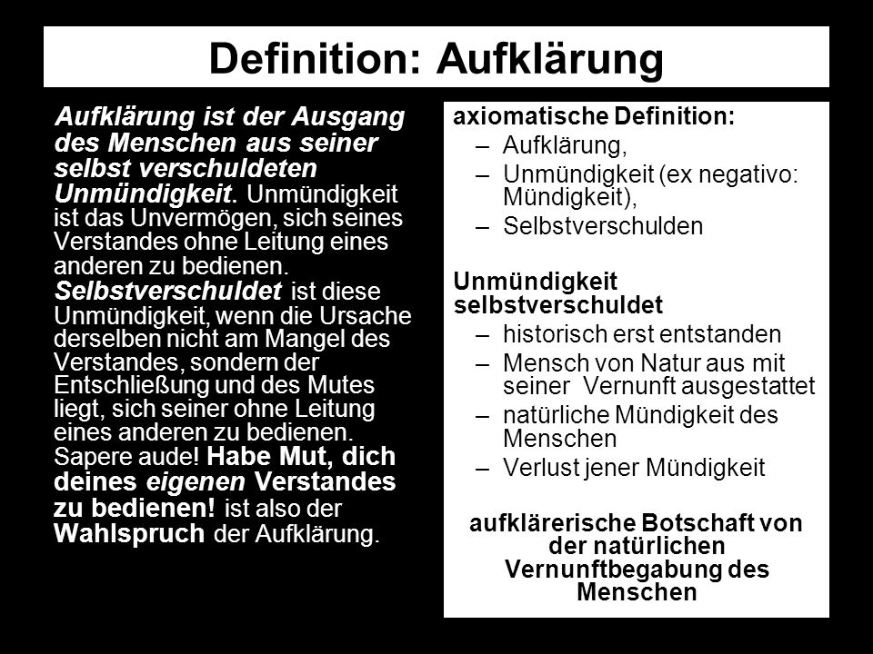 Definition: Aufklärung