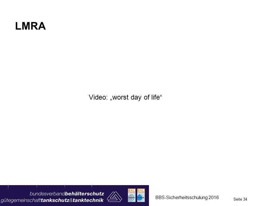 """LMRA Video: """"worst day of life Lösung! Erläuterung der Durchführung."""