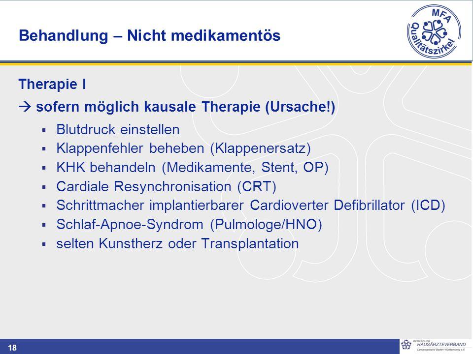 Behandlung – Nicht medikamentös