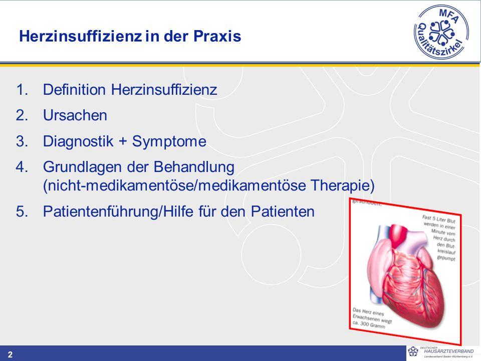 Herzinsuffizienz in der Praxis