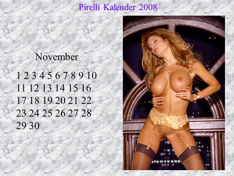 Pirelli Kalender 2008 November.