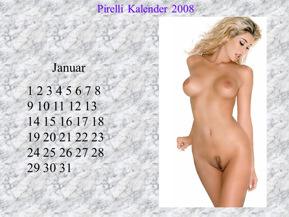 Pirelli Kalender 2008 Januar.