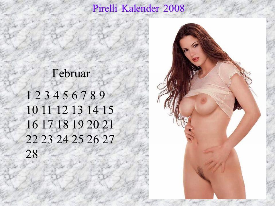 Pirelli Kalender 2008 Februar.