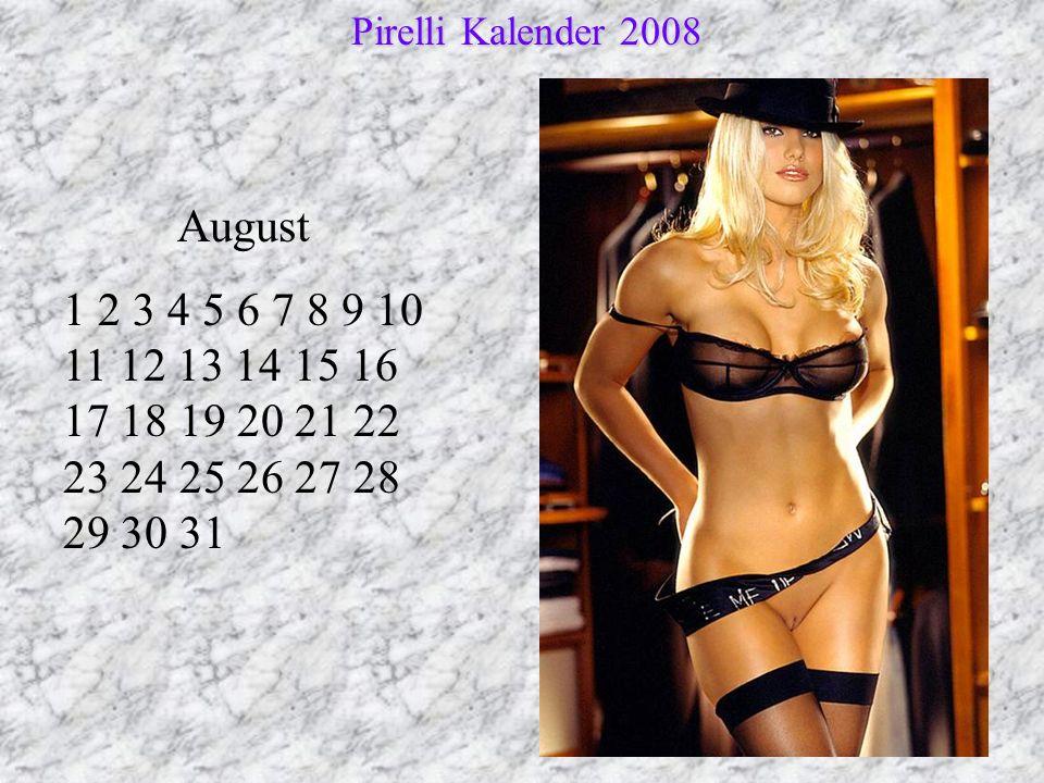 Pirelli Kalender 2008 August.