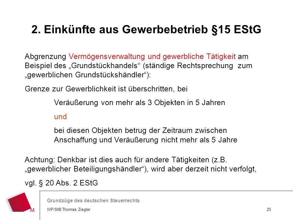 2. Einkünfte aus Gewerbebetrieb §15 EStG