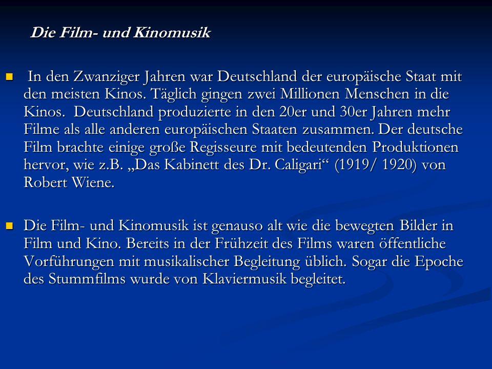 Die Film- und Kinomusik