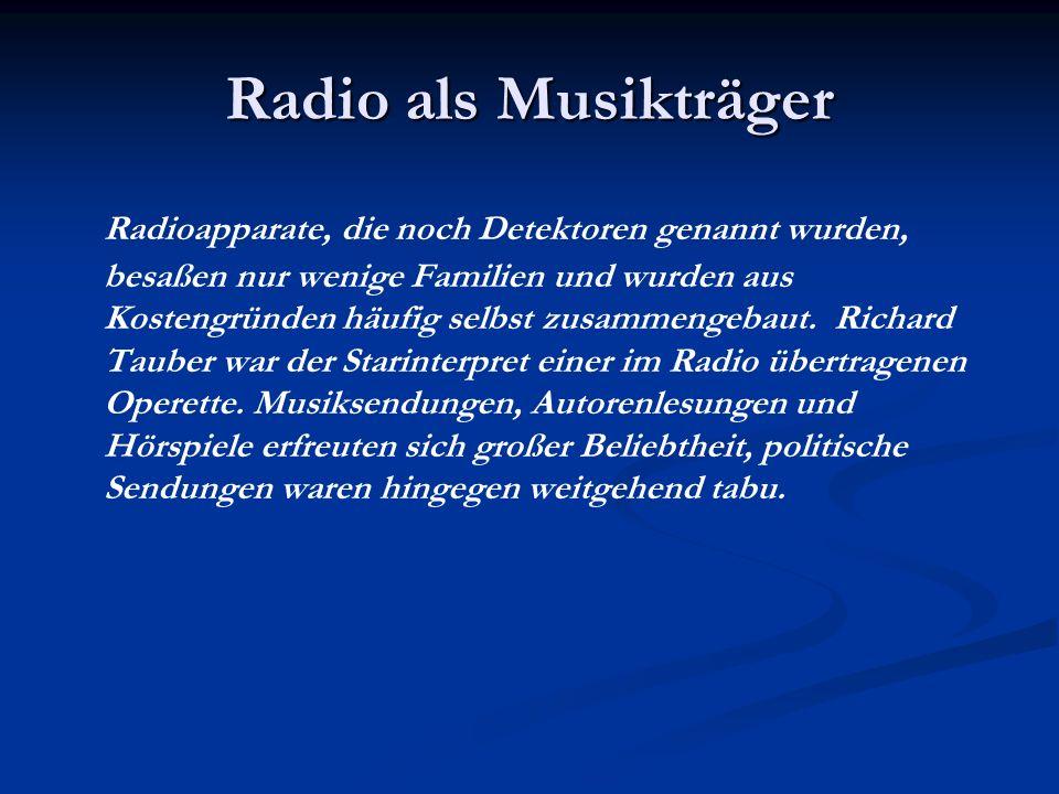 Radio als Musikträger