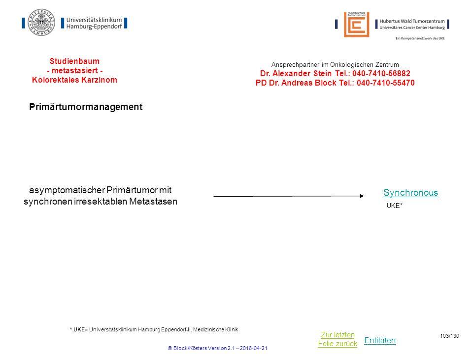 Studienbaum - metastasiert - Kolorektales Karzinom
