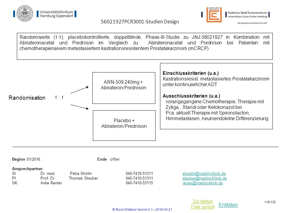 56021927PCR3001-Studien Design Randomisation