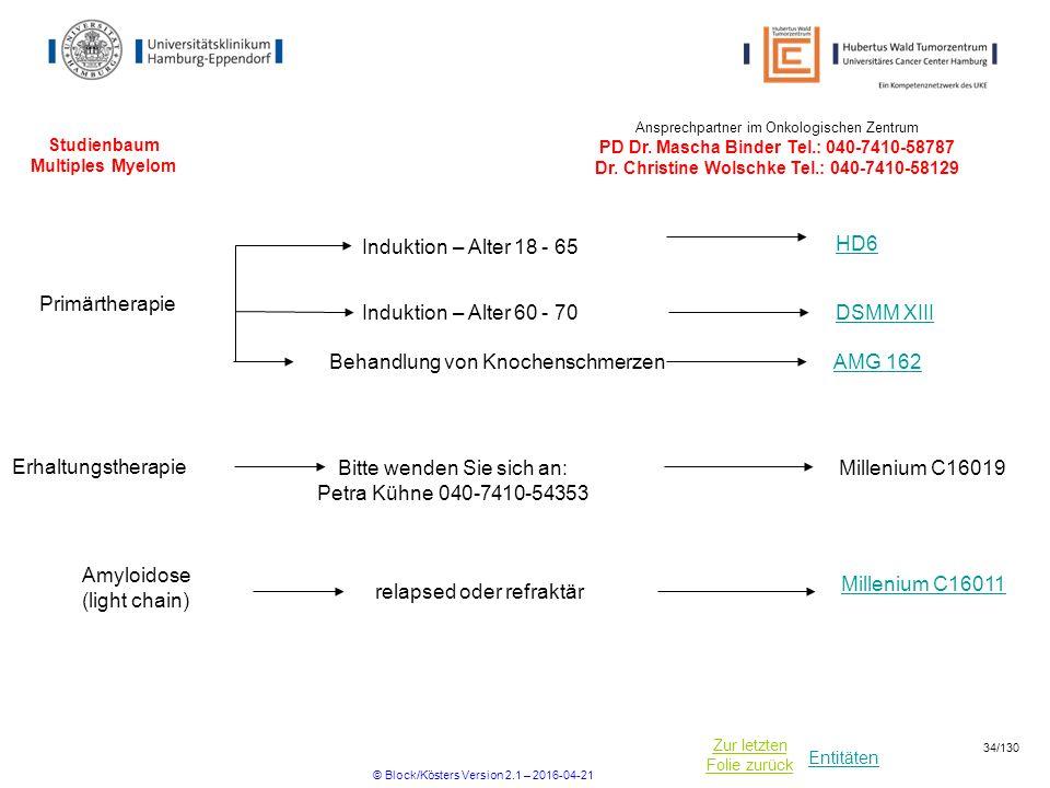 Studienbaum Multiples Myelom