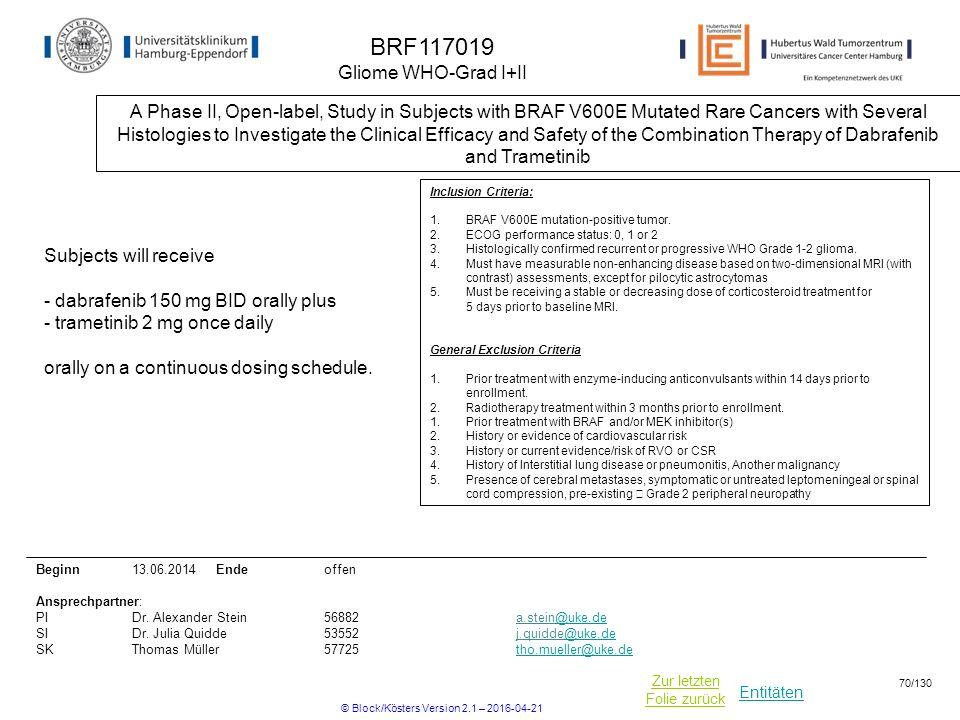 BRF117019 Gliome WHO-Grad I+II