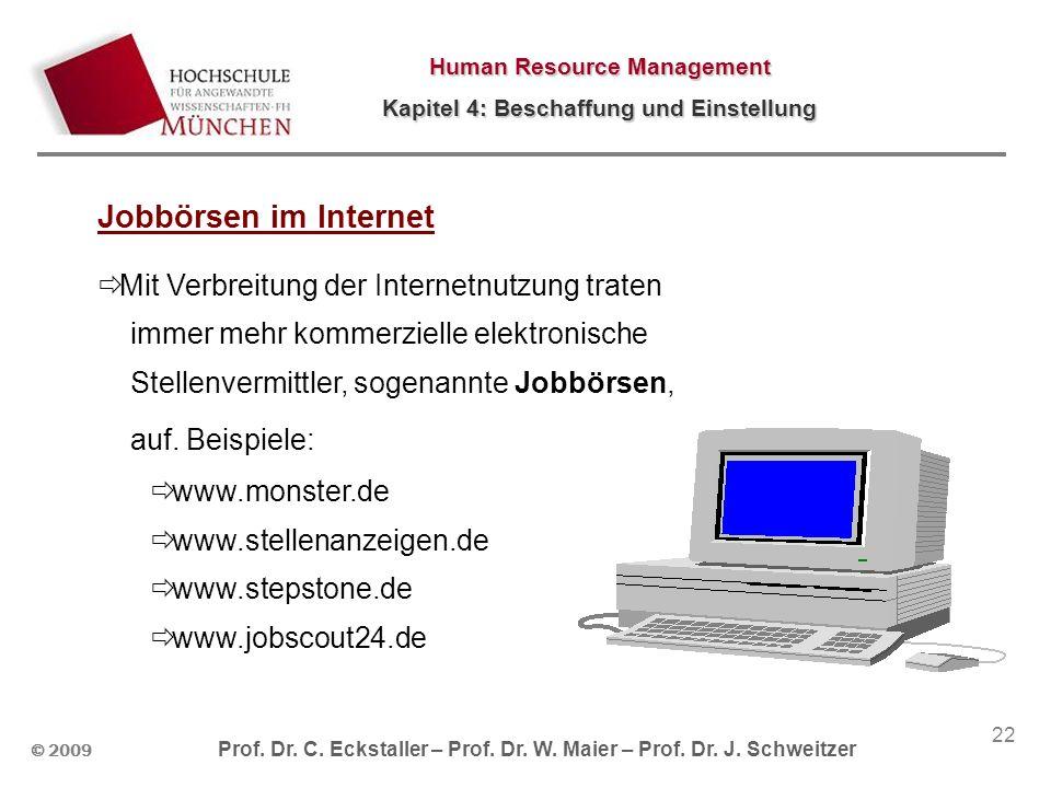 Jobbörsen im Internet