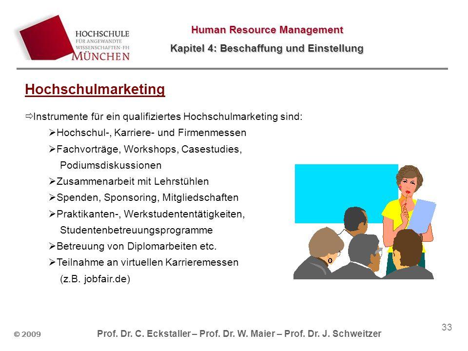 Hochschulmarketing Instrumente für ein qualifiziertes Hochschulmarketing sind: Hochschul-, Karriere- und Firmenmessen.