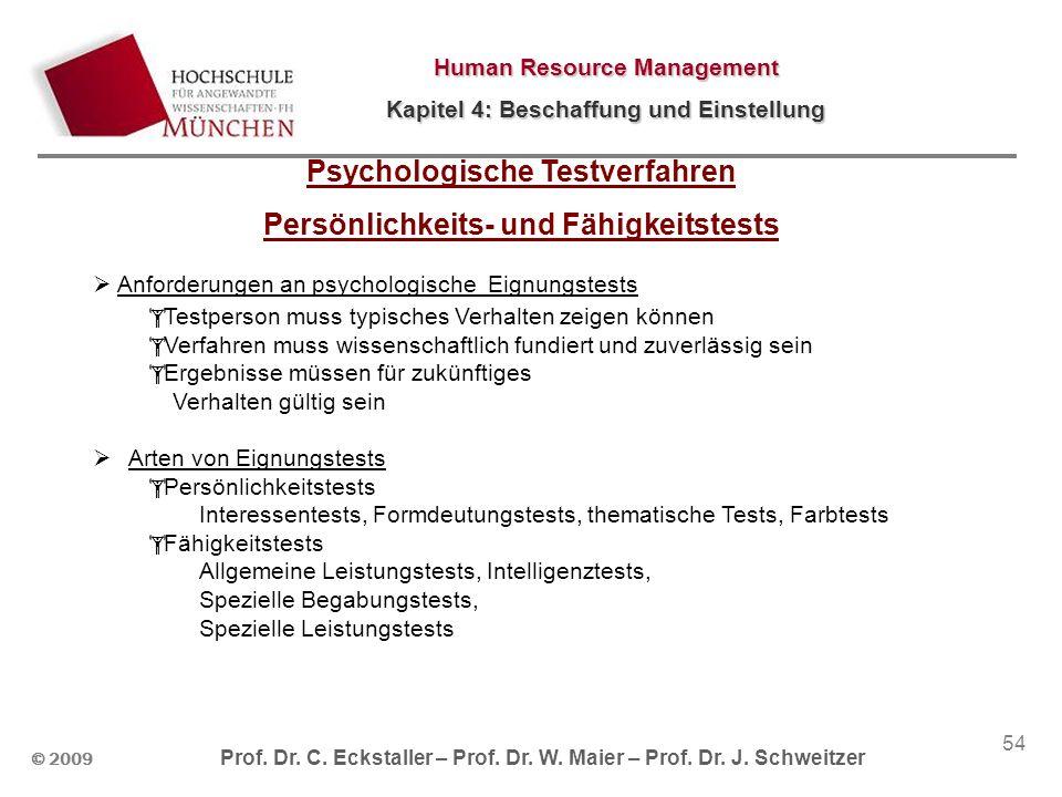 Psychologische Testverfahren Persönlichkeits- und Fähigkeitstests