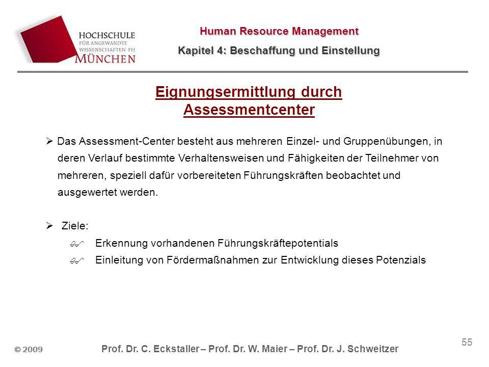 Eignungsermittlung durch Assessmentcenter