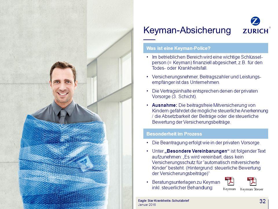 Keyman-Absicherung 32 Was ist eine Keyman-Police