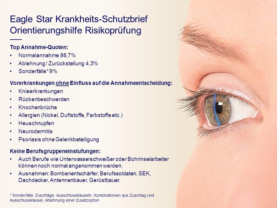 Eagle Star Krankheits-Schutzbrief Orientierungshilfe Risikoprüfung