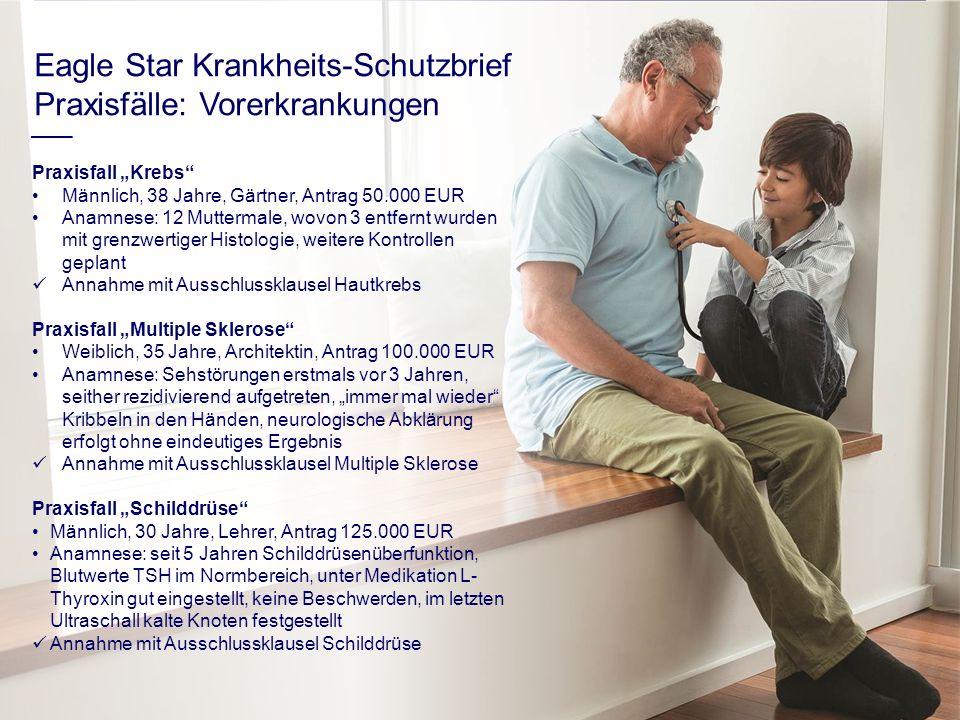 Eagle Star Krankheits-Schutzbrief Praxisfälle: Vorerkrankungen